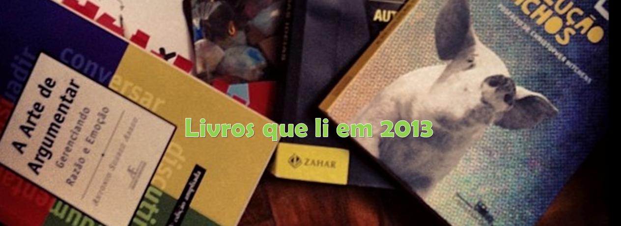 Livros que li em 2013